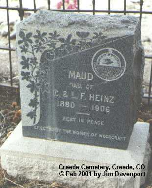 HEINZ, MAUD - Mineral County, Colorado | MAUD HEINZ - Colorado Gravestone Photos