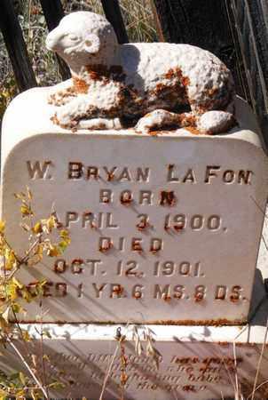 LA FON, W. BRYAN - Mineral County, Colorado | W. BRYAN LA FON - Colorado Gravestone Photos