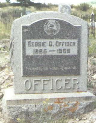 OFFICER, BESSIE G. - Mineral County, Colorado   BESSIE G. OFFICER - Colorado Gravestone Photos