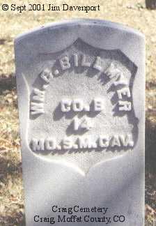 BILLMYER, WM C. - Moffat County, Colorado | WM C. BILLMYER - Colorado Gravestone Photos
