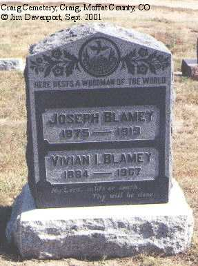 BLAMEY, JOSEPH - Moffat County, Colorado | JOSEPH BLAMEY - Colorado Gravestone Photos