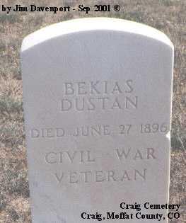 DUSTAN, BEKIAS - Moffat County, Colorado | BEKIAS DUSTAN - Colorado Gravestone Photos