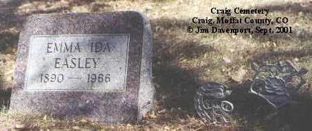 EASLEY, EMMA IDA - Moffat County, Colorado   EMMA IDA EASLEY - Colorado Gravestone Photos