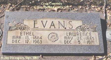 EVANS, ETHEL - Moffat County, Colorado | ETHEL EVANS - Colorado Gravestone Photos
