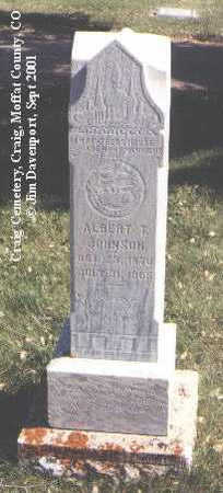 JOHNSON, ALBERT T. - Moffat County, Colorado | ALBERT T. JOHNSON - Colorado Gravestone Photos