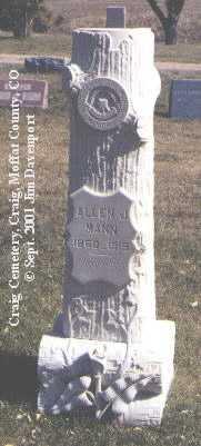 MANN, ALLEN J. - Moffat County, Colorado | ALLEN J. MANN - Colorado Gravestone Photos