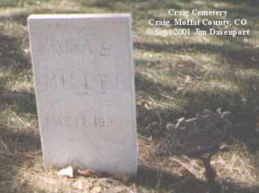 MILLER, LAURA B. - Moffat County, Colorado | LAURA B. MILLER - Colorado Gravestone Photos