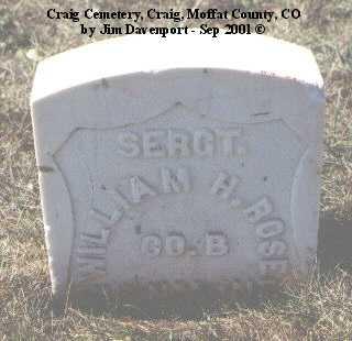ROSE, WILLIAM H. - Moffat County, Colorado | WILLIAM H. ROSE - Colorado Gravestone Photos