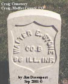 STONE, WALTER E. - Moffat County, Colorado   WALTER E. STONE - Colorado Gravestone Photos
