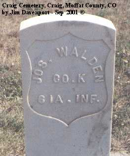 WALDEN, JOS. - Moffat County, Colorado | JOS. WALDEN - Colorado Gravestone Photos