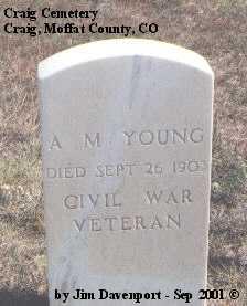 YOUNG, A. M. - Moffat County, Colorado   A. M. YOUNG - Colorado Gravestone Photos
