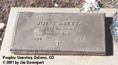 ABEYTA, JOE S. - Montezuma County, Colorado | JOE S. ABEYTA - Colorado Gravestone Photos