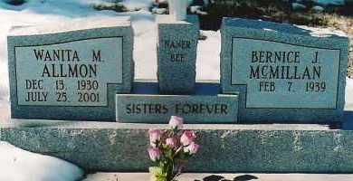 ALLMON, WANITA M. - Montezuma County, Colorado | WANITA M. ALLMON - Colorado Gravestone Photos