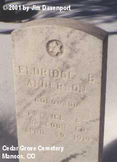 ANDERSON, ELDRIDGE B. - Montezuma County, Colorado | ELDRIDGE B. ANDERSON - Colorado Gravestone Photos
