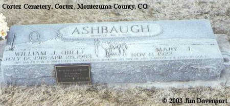 ASHBAUGH, WILLIAM J. - Montezuma County, Colorado | WILLIAM J. ASHBAUGH - Colorado Gravestone Photos