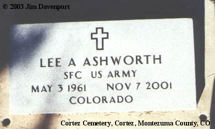 ASHWORTH, LEE A. - Montezuma County, Colorado   LEE A. ASHWORTH - Colorado Gravestone Photos