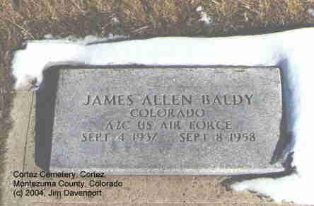 BALDY, JAMES ALLEN - Montezuma County, Colorado   JAMES ALLEN BALDY - Colorado Gravestone Photos