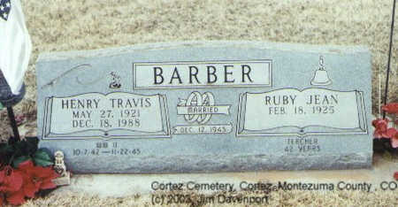 BARBER, HENRY TRAVIS - Montezuma County, Colorado | HENRY TRAVIS BARBER - Colorado Gravestone Photos