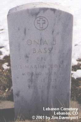 BASS, ONIA J. - Montezuma County, Colorado | ONIA J. BASS - Colorado Gravestone Photos