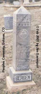 BERGEN, HENRY - Montezuma County, Colorado | HENRY BERGEN - Colorado Gravestone Photos