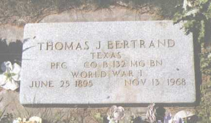 BERTRAND, THOMAS J. - Montezuma County, Colorado   THOMAS J. BERTRAND - Colorado Gravestone Photos