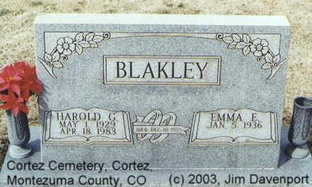 BLAKLEY, EMMA E. - Montezuma County, Colorado | EMMA E. BLAKLEY - Colorado Gravestone Photos