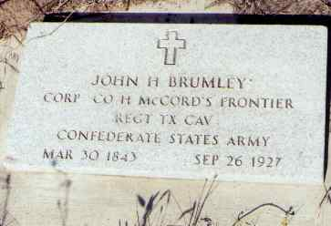 BRUMLEY, JOHN H. - Montezuma County, Colorado | JOHN H. BRUMLEY - Colorado Gravestone Photos