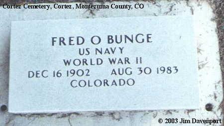 BUNGE, FRED O. - Montezuma County, Colorado   FRED O. BUNGE - Colorado Gravestone Photos