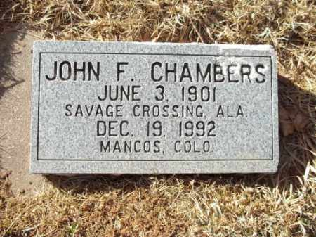 CHAMBERS, JOHN F. - Montezuma County, Colorado | JOHN F. CHAMBERS - Colorado Gravestone Photos