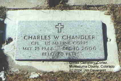CHANDLER, CHARLES - Montezuma County, Colorado | CHARLES CHANDLER - Colorado Gravestone Photos
