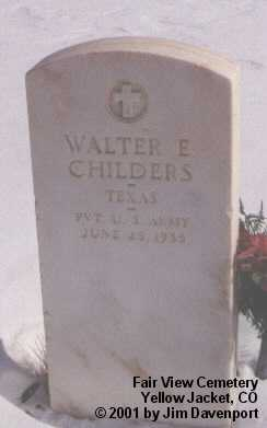 CHILDERS, WALTER E. - Montezuma County, Colorado | WALTER E. CHILDERS - Colorado Gravestone Photos