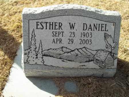 DANIEL, ESTHER W. - Montezuma County, Colorado | ESTHER W. DANIEL - Colorado Gravestone Photos