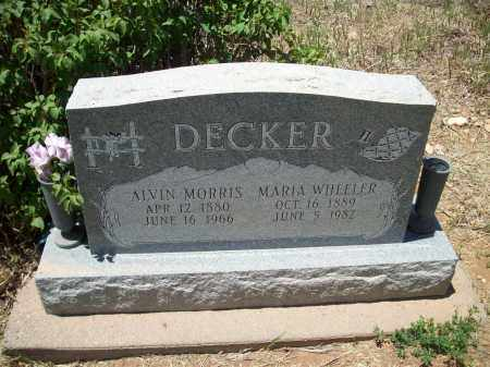DECKER, ALVIN MORRIS - Montezuma County, Colorado | ALVIN MORRIS DECKER - Colorado Gravestone Photos