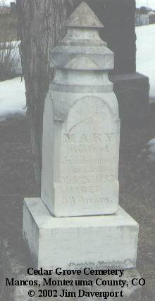 DEVENPORT, MARY - Montezuma County, Colorado | MARY DEVENPORT - Colorado Gravestone Photos