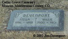 DEVENPORT, WILLIE - Montezuma County, Colorado | WILLIE DEVENPORT - Colorado Gravestone Photos