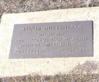 DUKESHERER, JACOB - Montezuma County, Colorado | JACOB DUKESHERER - Colorado Gravestone Photos