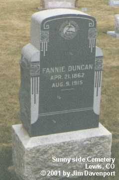 DUNCAN, FANNIE - Montezuma County, Colorado | FANNIE DUNCAN - Colorado Gravestone Photos