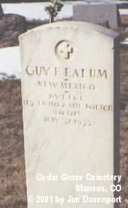 EALUM, GUY F. - Montezuma County, Colorado | GUY F. EALUM - Colorado Gravestone Photos