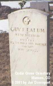 EALUM, GUY F. - Montezuma County, Colorado | GUY F. EALUM - Colorado Gravestone Photos