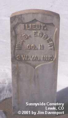 EBBERT, WM. B. - Montezuma County, Colorado   WM. B. EBBERT - Colorado Gravestone Photos