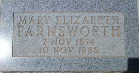 FARNSWORTH, MARY ELIZABETH - Montezuma County, Colorado | MARY ELIZABETH FARNSWORTH - Colorado Gravestone Photos