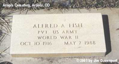 FISH, ALFRED A. - Montezuma County, Colorado | ALFRED A. FISH - Colorado Gravestone Photos