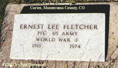 FLETCHER, ERNEST LEE - Montezuma County, Colorado | ERNEST LEE FLETCHER - Colorado Gravestone Photos