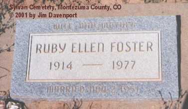 FOSTER, RUBY ELLEN - Montezuma County, Colorado | RUBY ELLEN FOSTER - Colorado Gravestone Photos