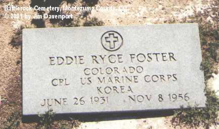 FOSTER, EDDIE RYCE - Montezuma County, Colorado   EDDIE RYCE FOSTER - Colorado Gravestone Photos