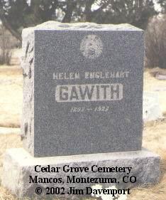 GAWITH, HELEN - Montezuma County, Colorado   HELEN GAWITH - Colorado Gravestone Photos