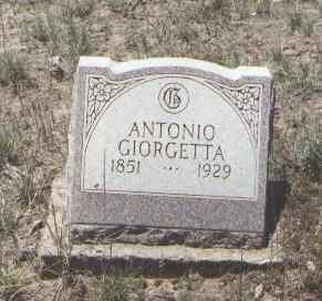 GIORGETTA, ANTONIO - Montezuma County, Colorado | ANTONIO GIORGETTA - Colorado Gravestone Photos
