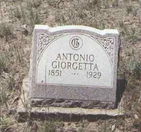 GIORGETTA, ANTONIO - Montezuma County, Colorado | ANTONIO GIORGETTA - Colorado Gravestone Photos