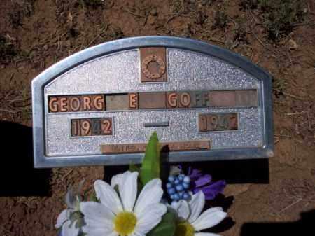 GOFF, GEORGE - Montezuma County, Colorado | GEORGE GOFF - Colorado Gravestone Photos