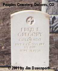 GREGORY, FRED E. - Montezuma County, Colorado   FRED E. GREGORY - Colorado Gravestone Photos